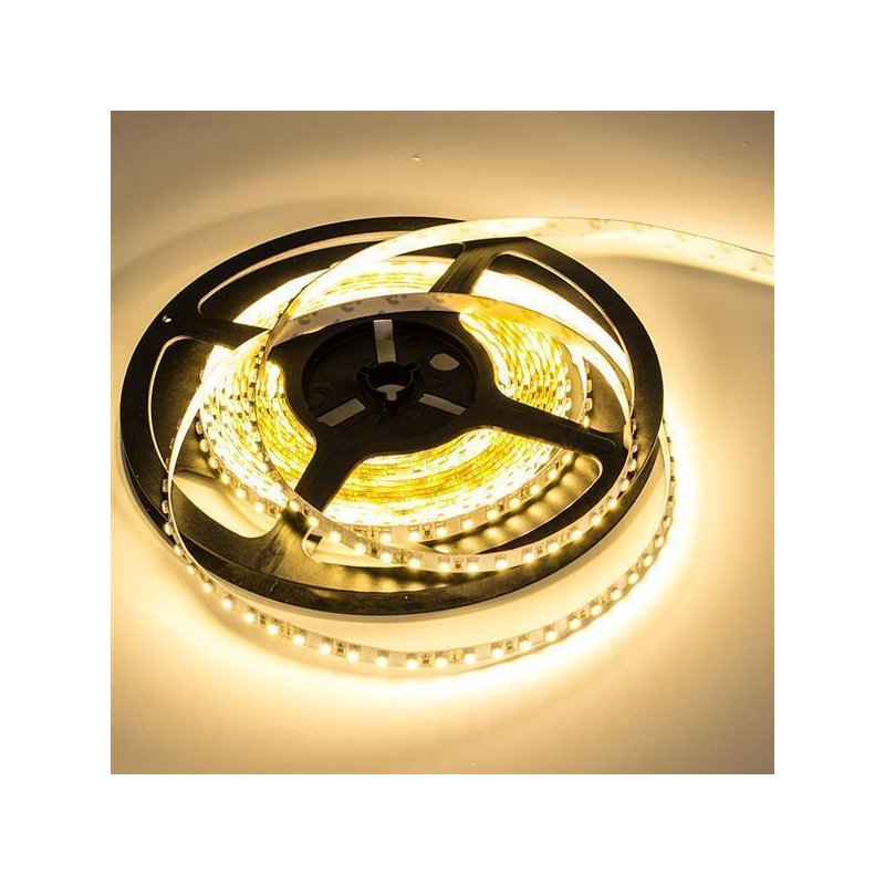 led band flexibel 5m 24volt mit 600 smd led 3528 warmweiss 2700k. Black Bedroom Furniture Sets. Home Design Ideas